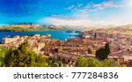 old town and harbor... | Shutterstock . vector #777284836