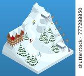 ski resort  slope  people on... | Shutterstock .eps vector #777288850