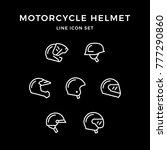 set line icons of motorcycle... | Shutterstock . vector #777290860