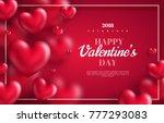 pink valentine's day background ...
