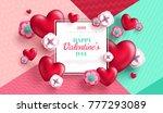 valentine's day concept... | Shutterstock .eps vector #777293089