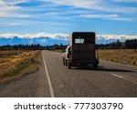 pickup car with cattle on... | Shutterstock . vector #777303790
