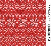 christmas knitting seamless... | Shutterstock .eps vector #777304210