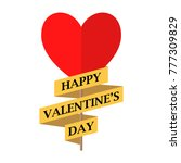 happy valentine's day card.... | Shutterstock .eps vector #777309829