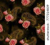 flower pattern roses pattern... | Shutterstock . vector #777314839