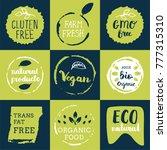 fresh  organic  gluten free ...   Shutterstock .eps vector #777315310