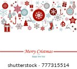 vintage blue and red christmas... | Shutterstock .eps vector #777315514