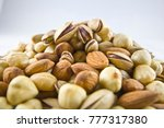 Several Nuts Hill Isolated Fro...