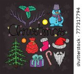 christmas vector set | Shutterstock .eps vector #777317794