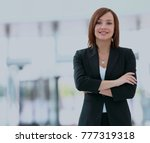 modern business woman in the... | Shutterstock . vector #777319318