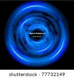 abstract techno circle...   Shutterstock .eps vector #77732149