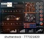 car user interface. map hud ui. ... | Shutterstock .eps vector #777321820