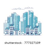 city landscape. real estate and ... | Shutterstock .eps vector #777327109