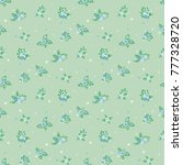 seamless floral pattern....   Shutterstock .eps vector #777328720