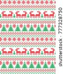 knitted christmas and new year... | Shutterstock .eps vector #777328750