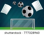 soccer goal with net. | Shutterstock .eps vector #777328960
