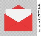 realistic blank open envelopes... | Shutterstock .eps vector #777329644