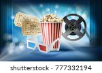 cinema blue background. concept ... | Shutterstock .eps vector #777332194
