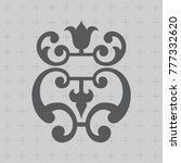 vintage baroque ornament. retro ... | Shutterstock .eps vector #777332620
