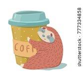 cute hand drawn cartoon vector...   Shutterstock .eps vector #777334858