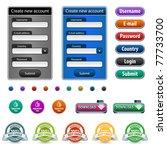 web design elements with login...