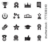 achievements and awards icons.... | Shutterstock .eps vector #777338140