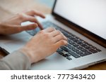 business woman working on laptop | Shutterstock . vector #777343420