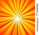 yellow orange colored summer... | Shutterstock .eps vector #777348403