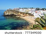 view of praia da carvoeiro... | Shutterstock . vector #777349030