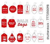 sale labels. big set in red and ... | Shutterstock .eps vector #777350098