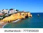 view of praia da carvoeiro... | Shutterstock . vector #777353020