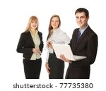 businesspeople with a laptop | Shutterstock . vector #77735380