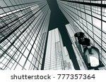 design element. 3d illustration.... | Shutterstock . vector #777357364