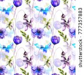 seamless pattern with wild... | Shutterstock . vector #777357883