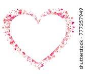 heart shape vector pink... | Shutterstock .eps vector #777357949