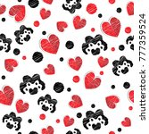 valentine's pattern with... | Shutterstock .eps vector #777359524