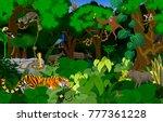 vector thailand jungle... | Shutterstock .eps vector #777361228