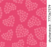 seamless pink background with... | Shutterstock .eps vector #777367579