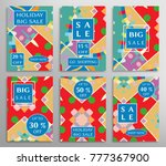 sale banners  flyers with... | Shutterstock .eps vector #777367900