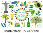 brazilian carnival icons flat... | Shutterstock .eps vector #777370420