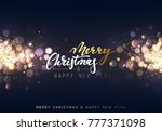 christmas background with... | Shutterstock . vector #777371098