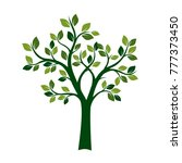 green spring tree. vector...   Shutterstock .eps vector #777373450
