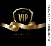 luxury vip invitation and... | Shutterstock .eps vector #777374950