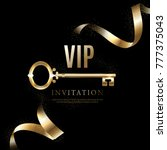 luxury vip invitation | Shutterstock .eps vector #777375043