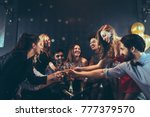 group of friends having fun at... | Shutterstock . vector #777379570