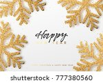merry christmas and happy new... | Shutterstock . vector #777380560