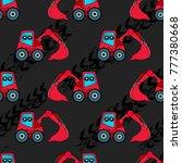 cute kids car  tractor pattern... | Shutterstock .eps vector #777380668