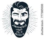 illustration with bearded man...   Shutterstock .eps vector #777385030