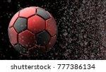 Red Black Metallic Soccer Ball...
