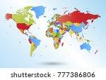 color world map vector | Shutterstock .eps vector #777386806